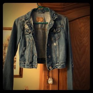 Jean distressed jacket